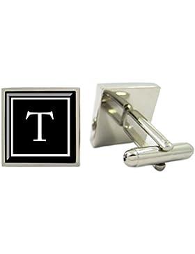 Quadratisch ein Monogramm Manschettenknöpfe, personalisierbar, Herren Manschettenknöpfe, Custom Initiale Manschettenknöpfe...