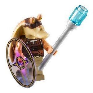 Lego Star Wars Minifigur Gungan Soldat Soldier bewaffnet aus (Soldaten Wars Star)