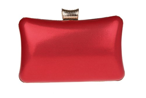 AnKoee Borsa Aristocratica del Vestito da Sera Della Signora Pacchetto di Disegno Fiore (Rosso) Rosso