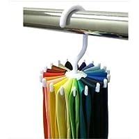 EQLEF® Closet girante da 360 gradi Twirling Tie Rack - 2 pezzi