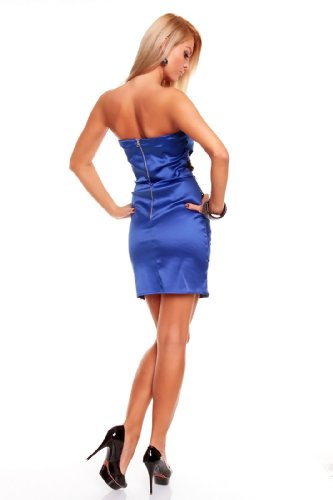 Elegantes Corsagen Minikleid mit Pailletten in mehreren Farben (HS-167) Blau Schwarz