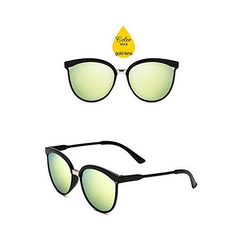 Sport-Sonnenbrillen, Vintage Sonnenbrillen, Cat Eye Sunglasses Women Luxury KUNSTSTOFF Sun Glasses Classic Retro Outdoor Oculos De Sol Gafas Gold Lens