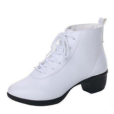 Wuyulunbi@ Donna Scarpe da ballo allaperto Boot tacco basso Rosso Nero Bianco 1 US8 / EU39 / UK6 / CN39