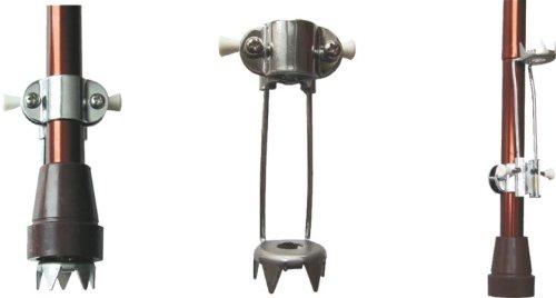 Eiskralle für Gehstock universal, 5 Spitzen, hochklappbar - Schneespiken Zackenkranz