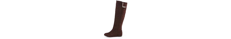 ZHZNVX HSXZ Zapatos de Mujer Cuero de Nubuck Cuero Confort Moda Primavera Otoño Botas Botas Botas de Tacón Cuña... -