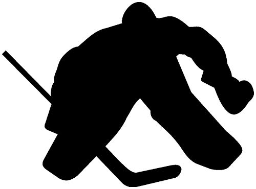 Samunshi® Aufkleber Eishockeytorwart Autoaufkleber Goalie in 7 Größen und 25 Farben (10x7,4cm schwarz)