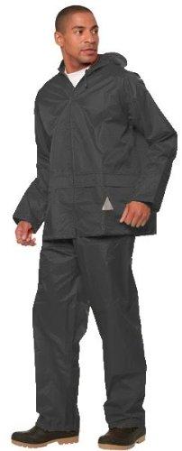 REGEN-ANZUG, Größe XXL, (Regenset bestehend aus Jacke und Hose), absolut wasserdicht, Farbe schwarz, lieferbar von Gr. S - XXL
