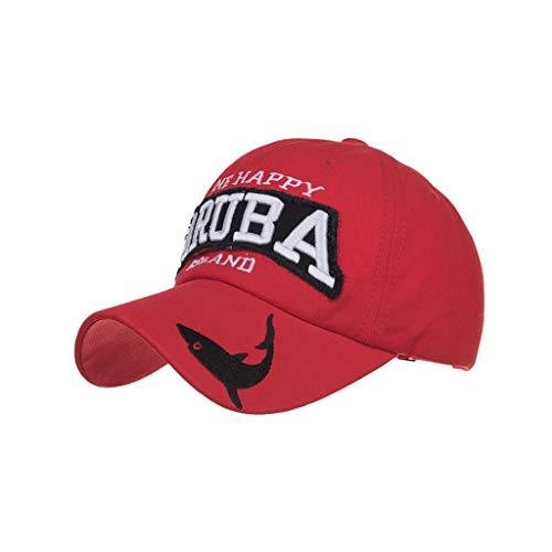 EERTX - ♛♛ Unisex Sommer-Briefdruck Hut-Sonnenschutz-justierbarer Baseball Mütze verstellbar stylisch und hochwertig als Accessoire für jedes Outfit(Multifunktionsmehrfarben)