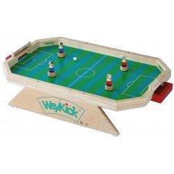 WeyKick Fußballstadion - Hochwertiges Magnetspiel aus Holz, Tischfußball, Magnetfußball