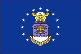 2x 3ft US Air Force Flag Pole Sleeve Pole Hem Stil Nylon US Made by American Flag Superstore - Us-indoor-flag
