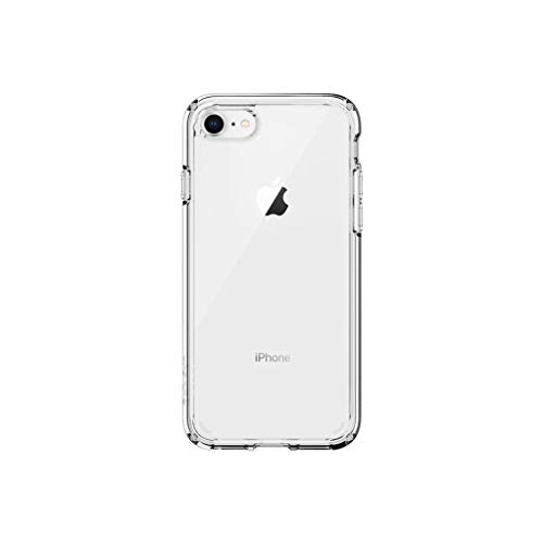 Spigen Coque iPhone 8, Coque iPhone 7 [Ultra Hybrid 2e Génération] Antichoc, AIR Cushion aux 4 Coins, Bumper Renforcé en TPU, Dos Rigide en PC, Compatible avec iPhone 8/7 - Transparent