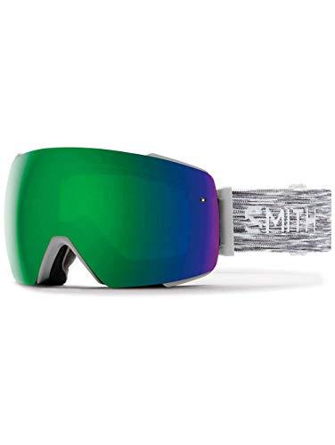 Smith optics i/o mag, maschera sci unisex – adulto, cloudgrey/sun green mirror, m