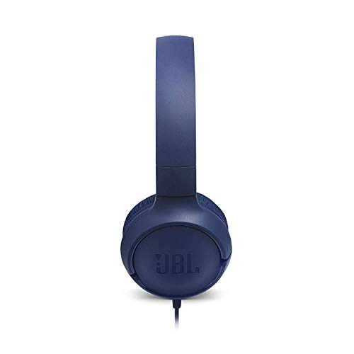 JBL Tune 500 Powerful Bass On-Ear Headphones with Mic (Blue) Image 2