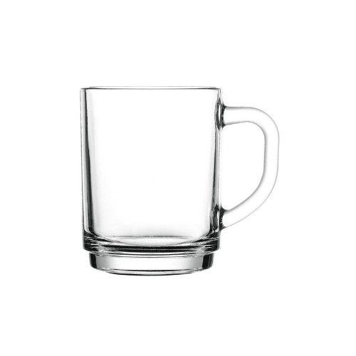 Pasabahce 55329 Bremen Teeglas mit Henkel 255 cc, 12 Stück