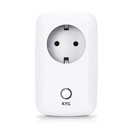 KYG Enchufe WiFi Inteligente Inalámbrico Domotica Remoto por App Android y iPhone (solo funciona en mismo red WiFi)