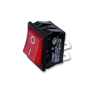 SWITCH, DPST, RED I/O, 16A, 250V C1353ATNAN By ARCOLECTRIC