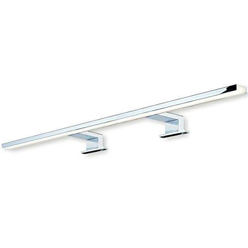SO-TECH® LED Spiegelleuchte Anbauleuchte Leuchte AALTO Aluminium Stahl chrom poliert | Länge 800 mm | Badleuchte | warmweiß 3000 K | IP44 geprüft | 13W | 230V - Chrom-vorschaltgerät