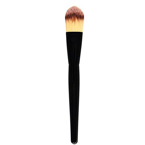 BIGBOBA Maquillage Brosse 1 Maquillage Masque Brosse Beauté Outils Unique Noir Bois Poignée Flamme Ronde Beauté Outils Taille 16 * 3 cm