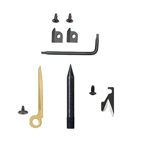 Leatherman  <strong>Werkzeuge</strong>   Kombimesser aus 420HC-Edelstahl, Spitzzange, Normale Zange, Auswechselbare 154CM Drahtschneider, Auswechselbare 154CM Hartdrahtschneider, Litzenschneider, Elektro-Crimpzange, Säge, Auswechselbarer Schneidhaken, Hammer, Bolzenlöser, Auswechselbarer Bronze-Carbonschaber, Putzstock/Bürstenadapter mit 8-32 UNC-Gewinde, Auswechselbarer Dorn zur Waffenzerlegung, Karabiner/Kapselheber, Großer Bithalter