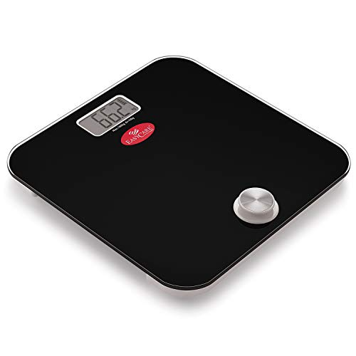 EasyCare EC-3321 Battery Free and One Press To Power Up Weighing Scale (Black)
