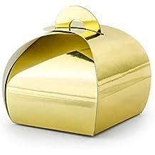 Unbekannt 10 pequeñas Cajas de Regalo de Papel en Oro metálico, ...