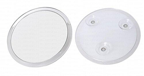 DEUSENFELD SKS175 - Design Acryl Saugnapf Kosmetikspiegel Vergrößerungsspiegel, ø 16,7cm, 5-Fach...