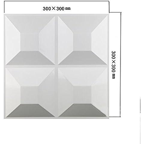 Yazi, 4unidades), color blanco Panel de Revestimiento de pared para decoración de la sala de estar Tienda de mesa en 3d 30x