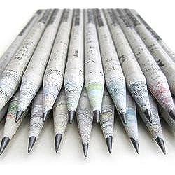 Eco lápices-caja set de 30 unidades-2B 100% papel de periódico,pencil reciclado para escribir/dibujar/diseñar para oficina/escuelas o colegios.