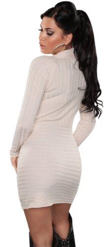 Koucla - Robe - Crayon - Uni - Manches longues - Femme Blanc - Ivoire