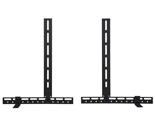 TV Sound Bar Bracket Mount, Position Above or Below TV and With or Without TV Wall Mount