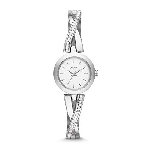 DKNY  NY2173   Reloj de cuarzo con correa de acero inoxidable para mujer, color plateado