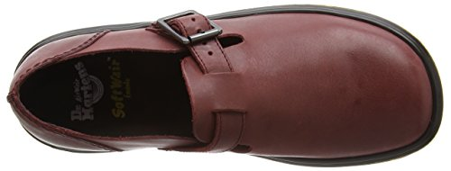 Dr. Martens Patricia Oilyillusion Deep Red, Mocassins femme Rouge - Rot (Deep Red)