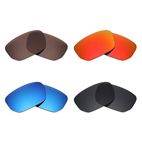 50e50b2b2e Mryok Lot de 4 paires de lentilles polarisées de rechange pour lunettes de  soleil Oakley Style