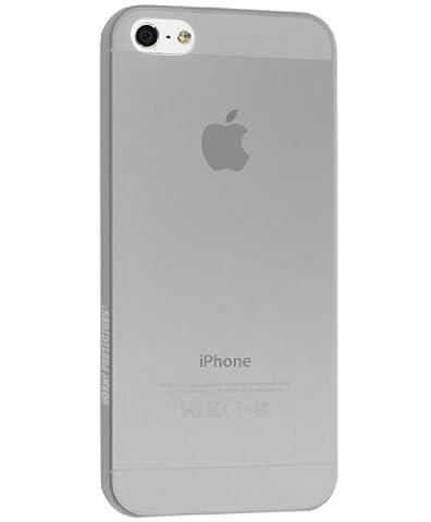 Horny Protectors ULTRAslim Schutzhülle für Apple iPhone 5 inkl. Gratis Displayschutzfolie transparent/grau