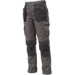"Apache Holster - Pistolera para hombre, tamaño 32 de cintura - 33 de pierna"", color gris / negro"