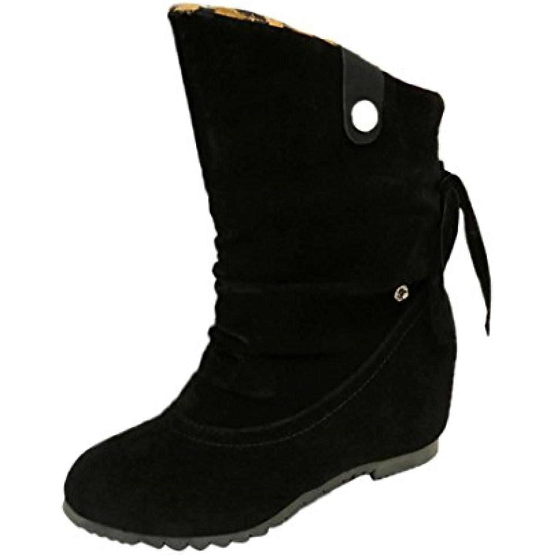 10057;Hiver Femmes Bottes de Neige Bottes Hiver Chaussures Automne Hiver Bottes Mi-Mollet Synth Eacute;Tique Chaud Fourrure Neige - B078H7W1S6 - 1e5cf1