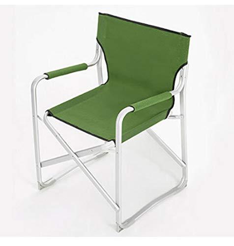 Gmnoy schienale della sedia pieghevole in alluminio con braccioli sedia da pesca portatile da campeggio traspirante,green