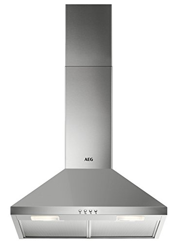 AEG DKB2630M Kamin-Dunstabzugshaube / Abluft oder Umluft / 60cm / Edelstahl / max. 225 m³/h / min. 57 - max. 70 dB(A) / D / Kurzhubtasten - Dunstabzugshaube Edelstahl