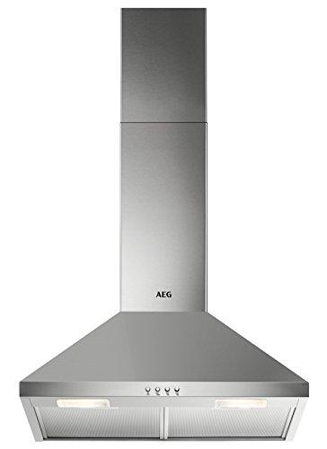 AEG DKB2630M Kamin-Dunstabzugshaube / Abluft oder Umluft / 60cm / Edelstahl / max. 225 m³/h / min. 57 - max. 70 dB(A) / D / Kurzhubtasten