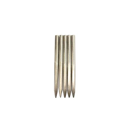 Peanutaoc Flaches Edelstahl-Nadel-Werkzeug mit Nähnadel-Armband Leder Strickwerkzeug -