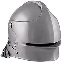 Schaller Alemana de acero para 1490con piel Inlet Deko Casco schaukampftauglich Ritter Casco LARP Vikingo