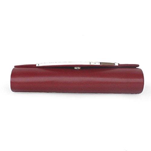 Sacchetto Del Telefono Mobile Pelle PU Borsa Delle Signore Borsa Banchetto Nuziale Della Signora Lucida WineRed