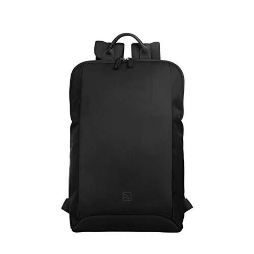 Flat Medium Rucksack für 13 Zoll Laptop Notebook mit Komfortabler Ausstattung und hohen Schwarz