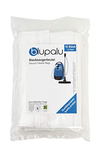blupalu I Staubsaugerbeutel für Staubsauger Eio Varia Electronic 1300 Watt I 10 Stück I mit Feinstaubfilter | verschließbar