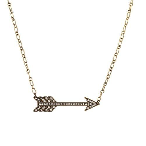 Lux accessori Statuetta a catena con ciondolo a forma di freccia