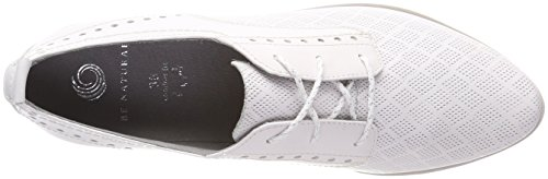 Be Natural 23740, Brogues Femme Blanc (White)