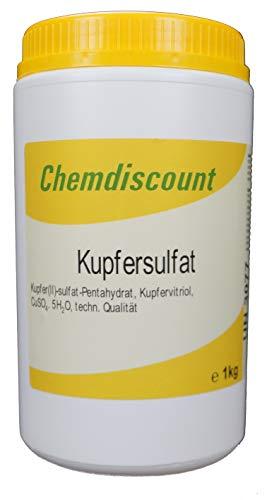 1kg Kupfersulfat Pentahydrat Kupfervitriol CuSO4 In Stabiler Dose