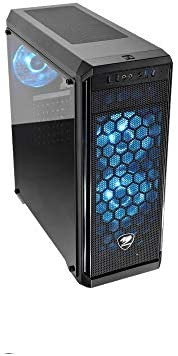 Cougar Gaming Case MX330G-Air, Mid-Tower, Tempered Glass Window, 3 Pre-Installed Fans, Blue-LED