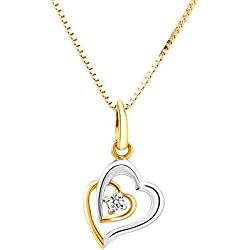WHP - Your Online Jewellery Store Jewellers 18KT Yellow Gold Diamond Heart Pendant for Women