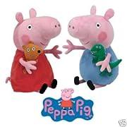 Ty Beanies Peppa Pig & George Pig 15cm Tall
